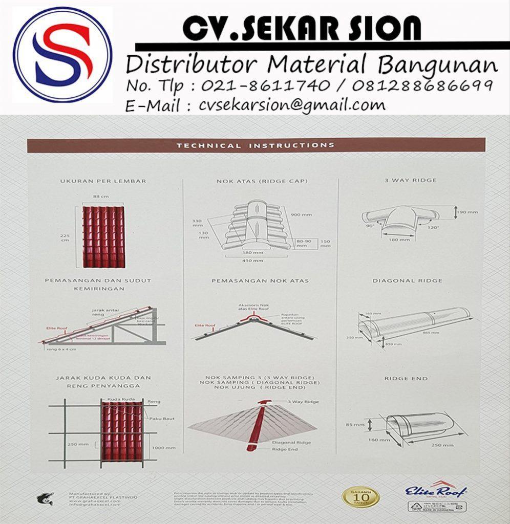 Supplier Atap UPVC Elite Roof Padang