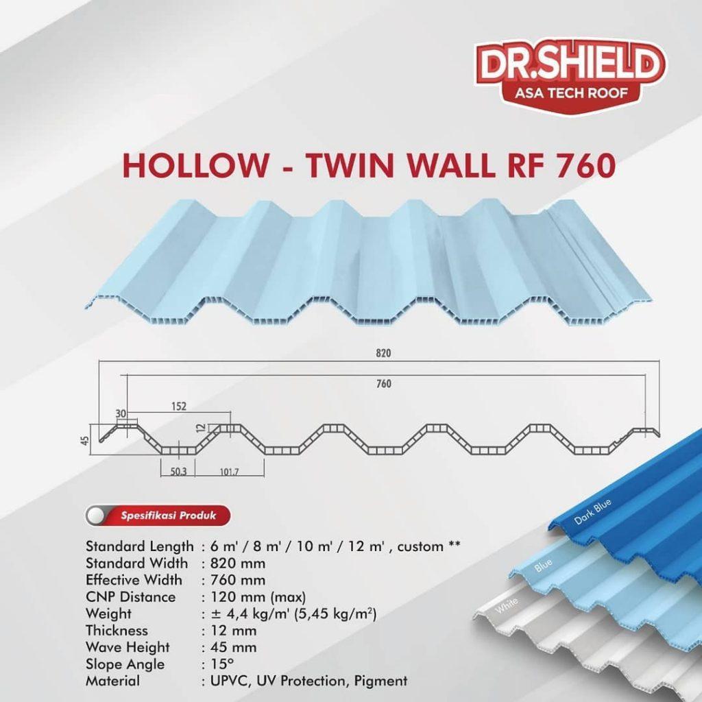 atap dr.shield hollow twin wall rf 760