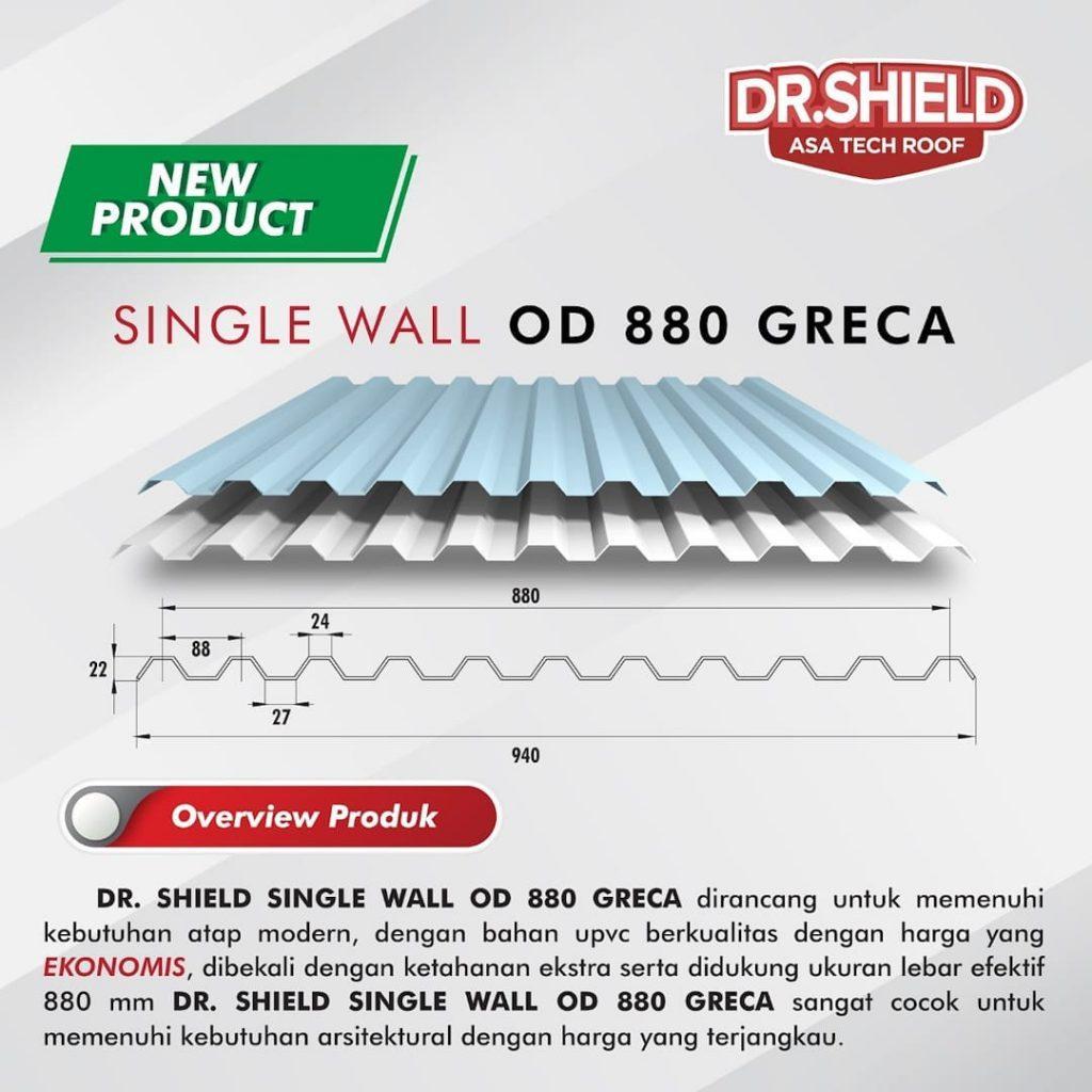 atap dr.shield single wall od 880 greca